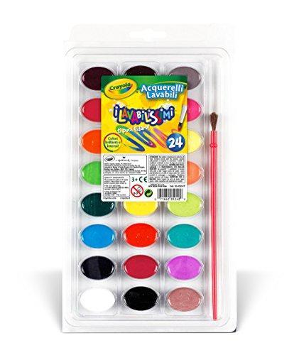 Crayola 53 0524 i lavabilissimi 24 acquerelli for Aerografo crayola amazon