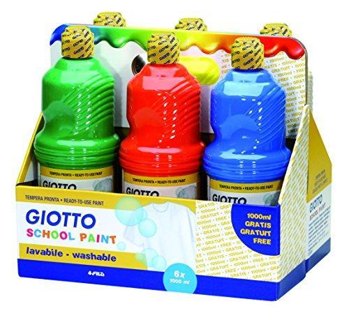 Giotto 530900 assortimento 6 flaconi da 1 litro tempera for Aerografo crayola amazon