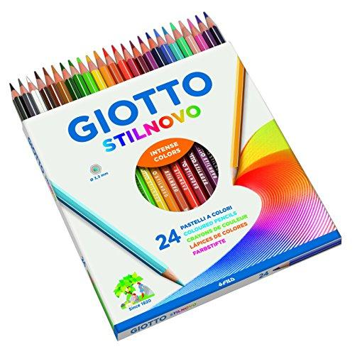 Giotto stilnovo pastelli colorati in astuccio 24 colori for Aerografo crayola amazon
