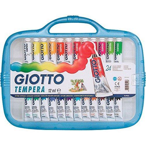 Giotto valigetta con 24 tubetti 12ml tempera extrafine 2 for Aerografo crayola amazon