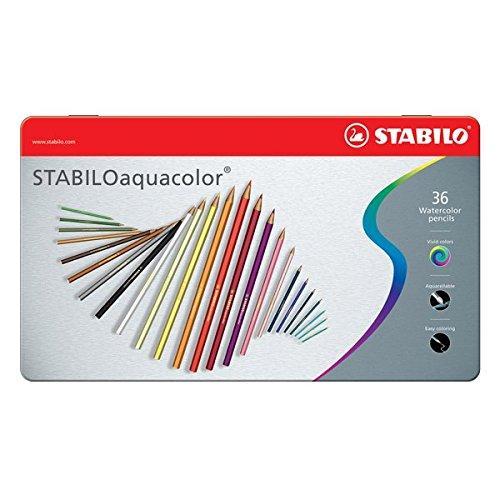 Stabilo 1636 5 matite colorate aquacolor scatola in for Aerografo crayola amazon
