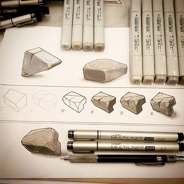 Tutorial Di Base Disegnare Una Roccia Con I Copic