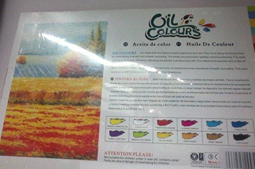 12 colori ad olio linea 39 studio 39 di buona qualita for Colori ad olio professionali
