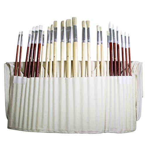 Set di 24 pennelli per pittura arte per olio acrilico for Colori ad olio professionali