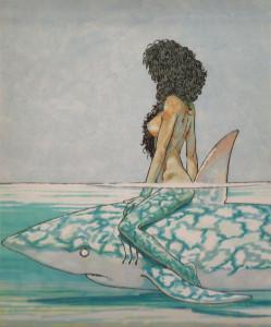 Andrea Pazienza Betta sullo squalo 1981