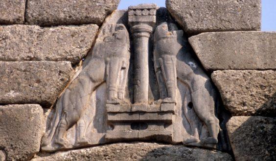 Arte micenea porta dei leoni e tesoro di Atreo