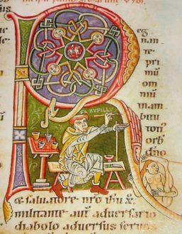 capolettera miniati scrittura gotica