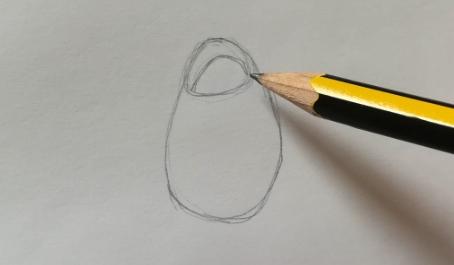 disegno di una rosa a matita