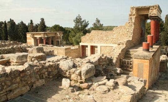 resti del palazzo di Cnosso a Creta