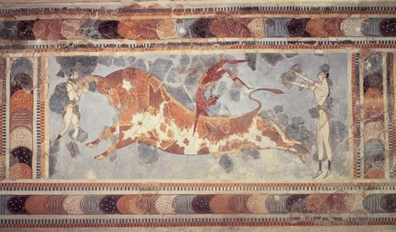 tauromachia pittura palazzo di cnosso