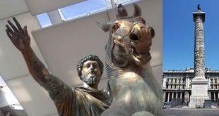 Statua equestre di Marco Aurelio e colonna Aureliana