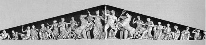 frontone Partenone Atena e Poseidone