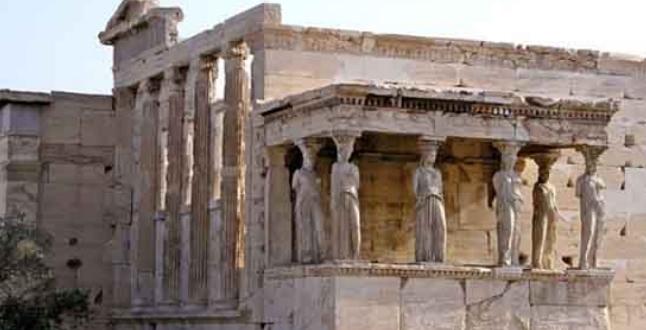 Loggia delle Cariatidi Eretteo acropoli di atene