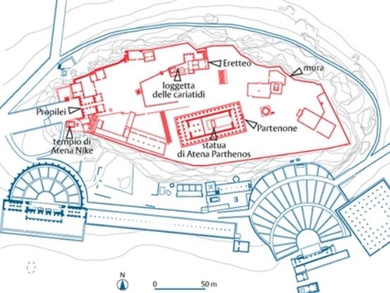 Pianta dell'Acropoli di Atene