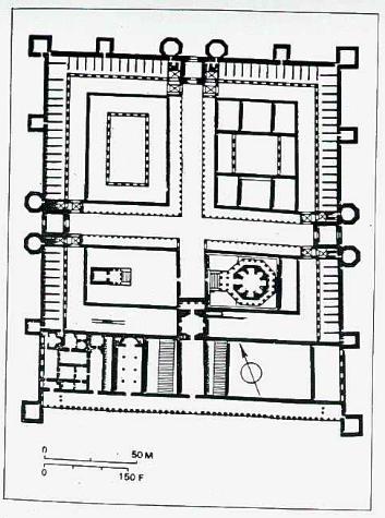 Pianta del palazzo di Diocleziano a Spalato