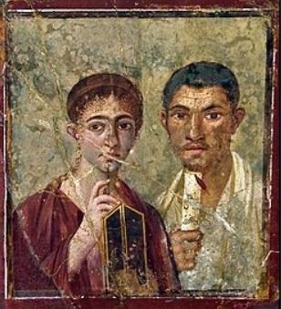 ritratto di parquio proculo e della moglie pittura romana