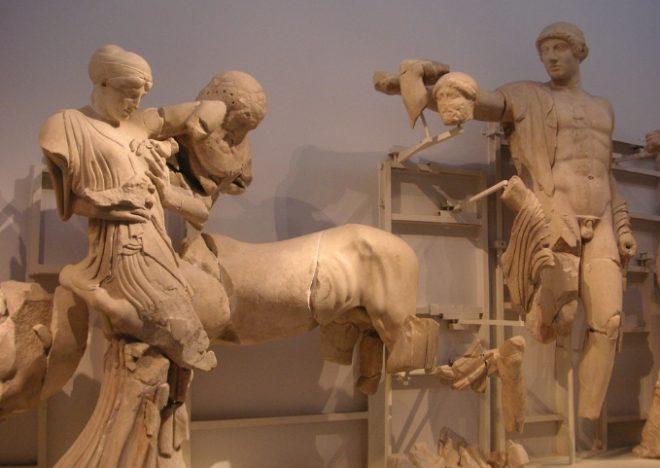 Sposa rapita tempio di Zeus a Olimpia