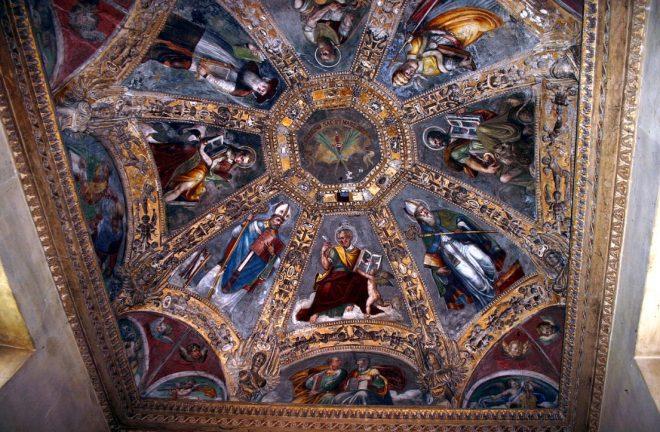 soffitto cappella s aquilino