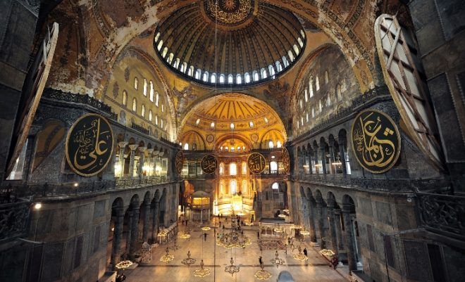 interno basilica santa sofia costantinopoli