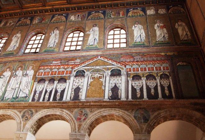 mosaici s apollinare nuovo ravenna