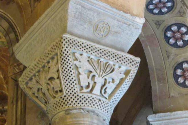 scultura bizantina capitelli san vitale ravenna