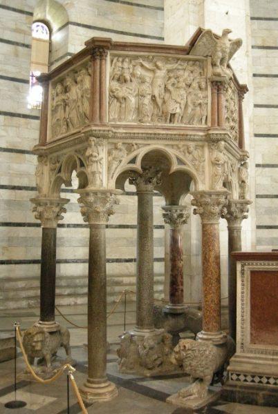 Pulpito del Battistero di Pisa Nicola Pisano