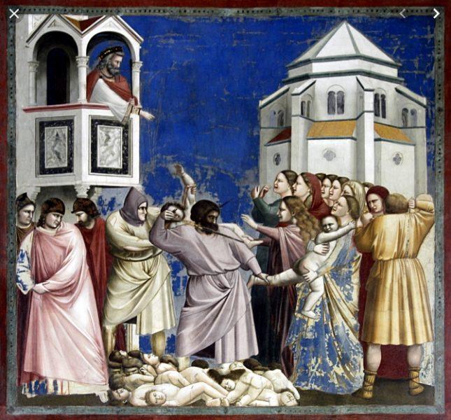 La strage degli Innocenti nella cappella degli Scrovegni