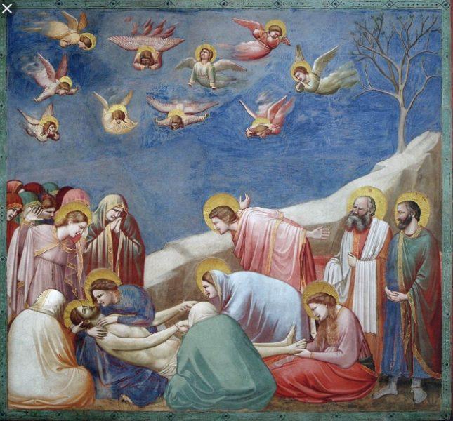 compianto sul Cristo Morto nella cappella degli Scrovegni