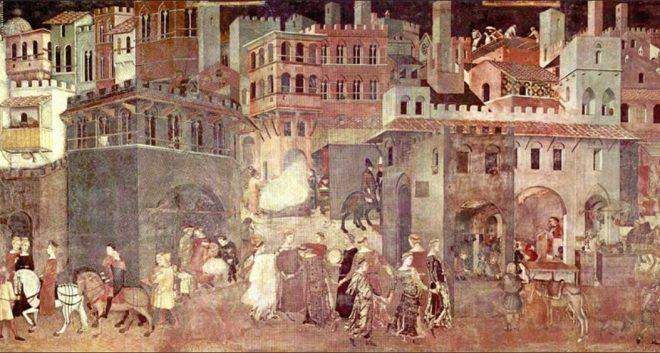 ambrogio lorenzetti allegoria del buono e cattivo governo