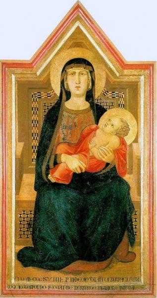 Madonna di Vico l'abate di Ambrogio Lorenzetti